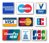 Methods of payment: Credit card, cank card and cash